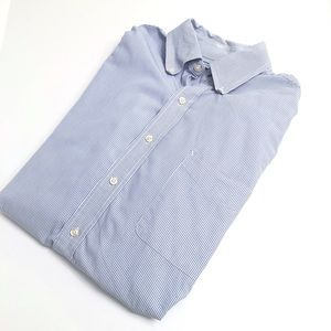 Tommy Hilfiger Blue pinstriped dress shirt